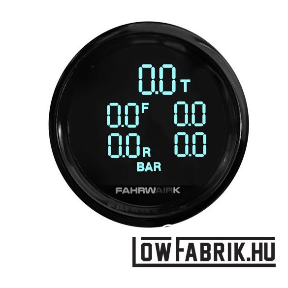 FAHRWairK - Digitális dupla nyomásmérő - 5 körös