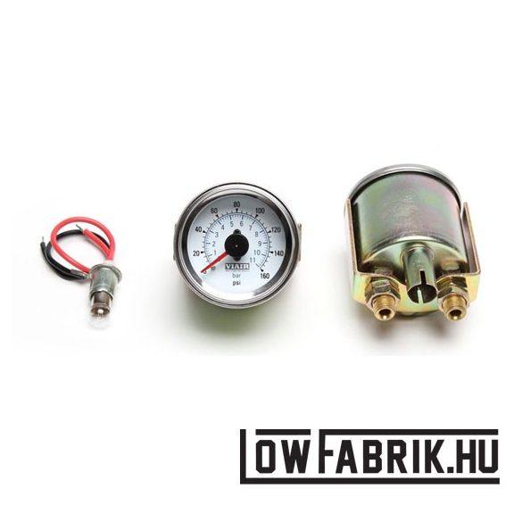 Viair analóg dupla nyomásmérő 0-160 PSI fehér
