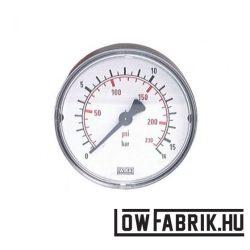 Nyomásmérő 0-16 bar 63mm